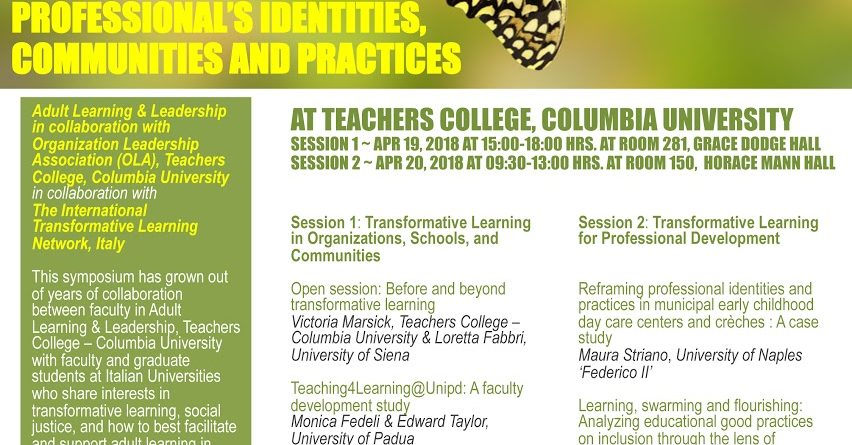 Transforming Professional Identities, Communities and Practices